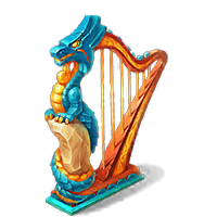 Magical Harp Decoration