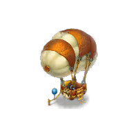 Hot Air Balloon with Tether Decoration
